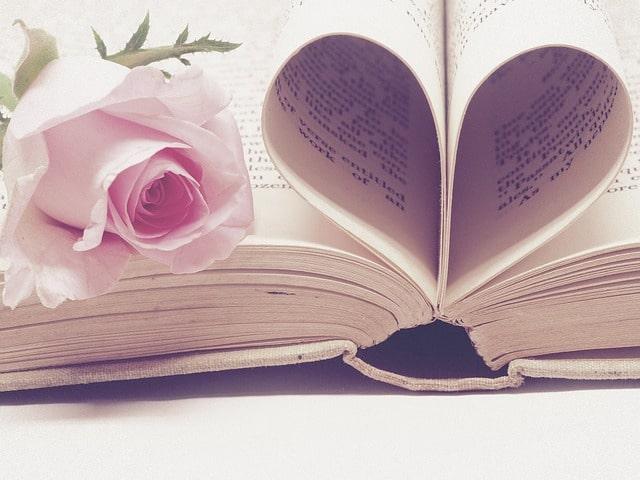 Book in shape of heart
